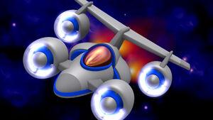 Chicken Invaders Spaceship Blue