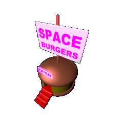 A Space Burger store in <i>Chicken Invaders (DX Version)</i>.