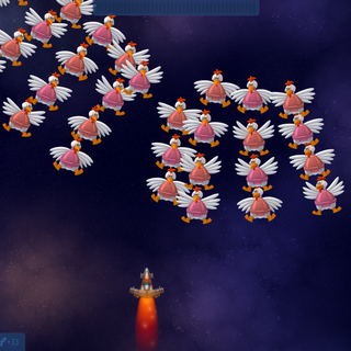 The debug console enabled in <i>Universe</i>. In <i>Chicken Invaders</i> games, the console also logs certain stuff, such as connecting to a server, wave changes, etc.