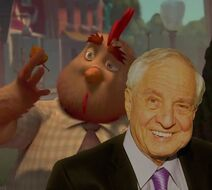 Garry Marshall with Buck Cluck