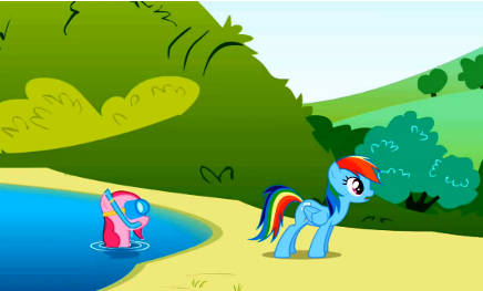Pinkie Pie in the lake S1E5