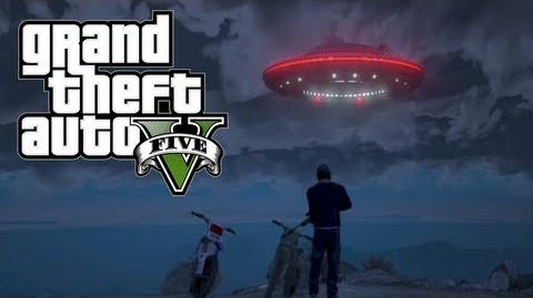 GTA 5 - Flying UFO Easter Egg! 100% Game Completion (Grand Theft Auto 5 Easter Eggs)