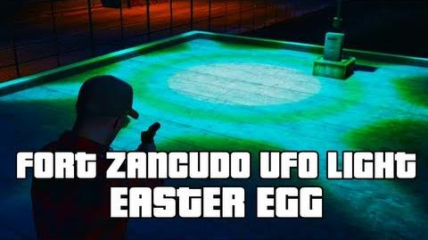 GTA V Fort Zancudo UFO Light Easter Egg