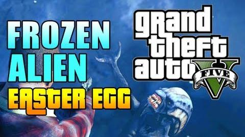 "GTA 5 Easter Eggs - FROZEN ALIEN EASTER EGG! (GTA V Frozen Alien) ""gta 5 mission 1"""