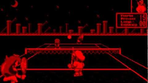 Mario's Tennis Game Sample - Virtual Boy