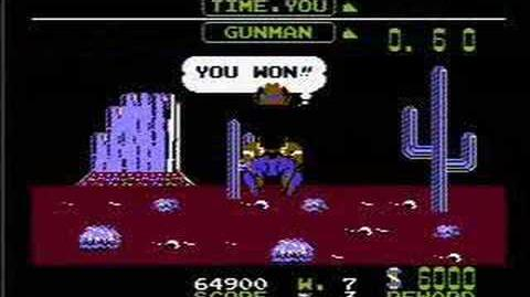 Wild Gunman - NES Gameplay