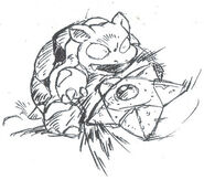 Early Blastoise and Staryu sketch
