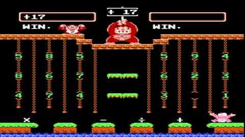 NES Game Donkey Kong Junior Math (1983 Nintendo)