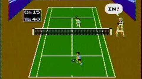 Tennis - NES Gameplay