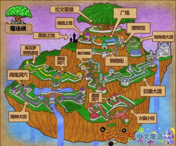魔法城地图 新