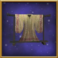 H-灰色丝绸和服