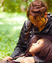 Katniss and Rue, when Rue is dying.