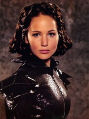 Katniss in Chariot Parade Outfit