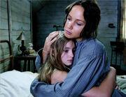 Katniss hugging Prim