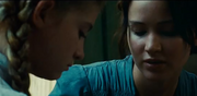 Prim and Katniss before the reaping