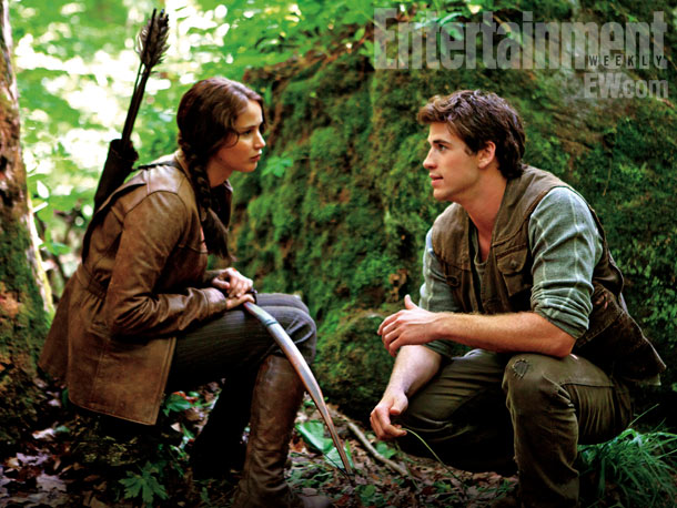 File:Katniss and Gale in the woods.jpg