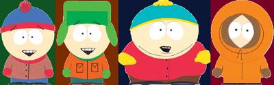Stan Marsh, Kyle Broflovski, Eric Cartman and Kenny McCormick