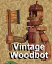 Vintage woodbot