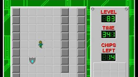 Chip's Challenge 1 level 83 solution - 297 seconds