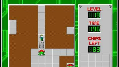Chip's Challenge 1 level 19 solution - 171 seconds