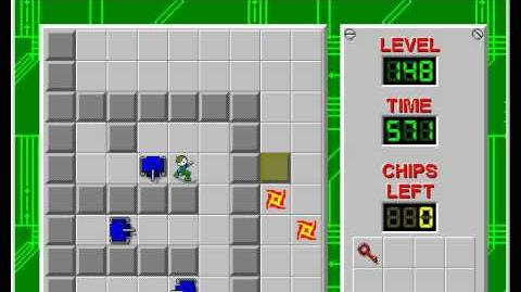CCLP2 level 148 solution - 548 seconds