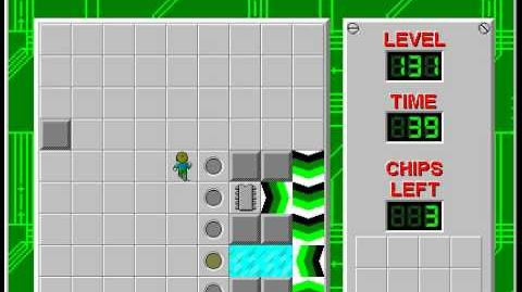 Chip's Challenge 1 level 131 solution - 26 seconds
