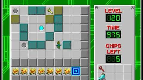 Chip's Challenge 1 level 120 solution - 947 seconds