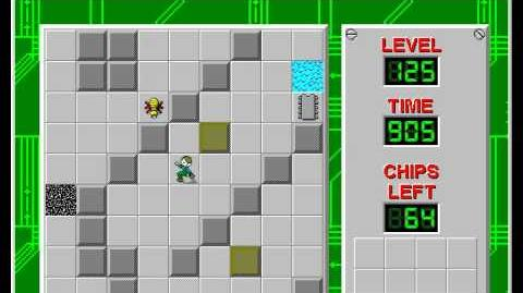 Chip's Challenge 1 level 125 solution - 830 seconds