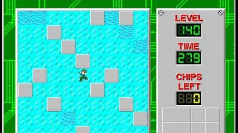 Chip's Challenge 1 level 140 solution - 263 seconds