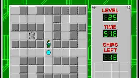 Chip's Challenge 1 level 25 solution - 435 seconds