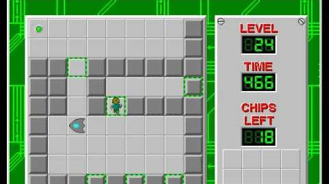 Chip's Challenge 1 level 24 solution - 425 seconds