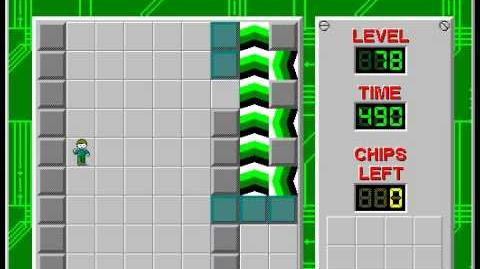 Chip's Challenge 1 level 78 solution - 480 seconds