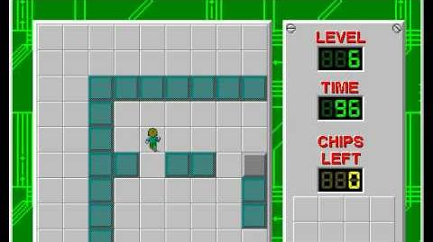 Chip's Challenge 1 level 6 solution - 94 seconds