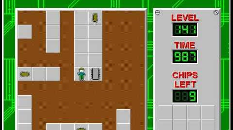 Chip's Challenge 1 level 141 solution - 968 seconds