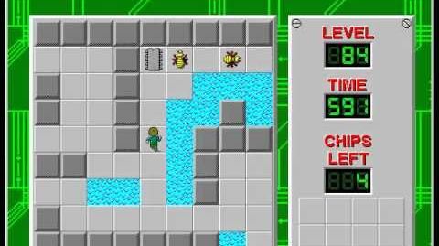 Chip's Challenge 1 level 84 solution - 580 seconds