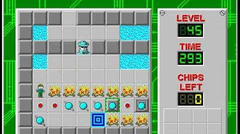 Chip's Challenge 1 level 45 solution - 292 seconds