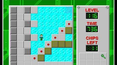 Chip's Challenge 1 level 116 solution - 714 seconds