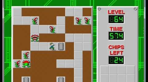 Chip's Challenge 1 level 64 solution - 547 seconds