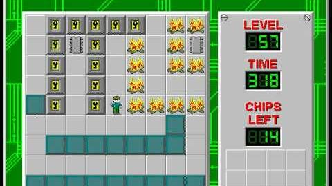 Chip's Challenge 1 level 57 solution - 229 seconds