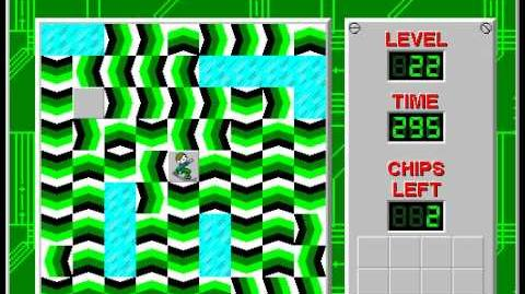 Chip's Challenge 1 level 22 solution - 293 seconds