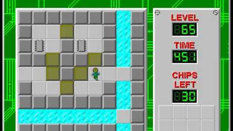 Chip's Challenge 1 level 65 solution - 395 seconds
