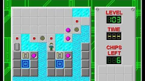 CCLP1 level 103 solution - 977 seconds