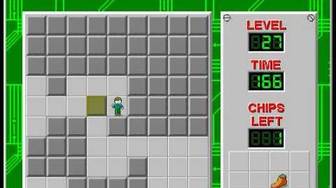 Chip's Challenge 1 level 27 solution - 147 seconds