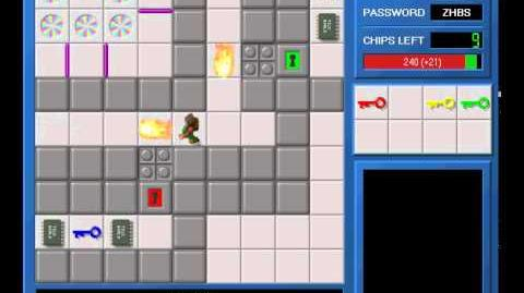 CCLP1 level 36 solution - 219 seconds