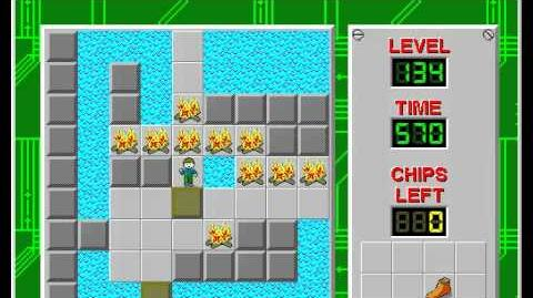Chip's Challenge 1 level 134 solution - 218 seconds