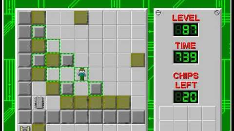 Chip's Challenge 1 level 87 solution - 541 seconds