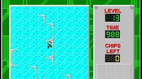 Chip's Challenge 1 level 13 solution - 982 seconds