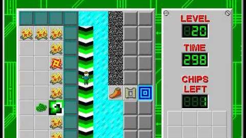CCLP2 level 20 solution - 293 seconds
