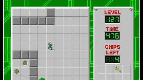 Chip's Challenge 1 level 127 solution - 453 seconds