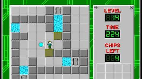 Chip's Challenge 1 level 14 solution - 204 seconds
